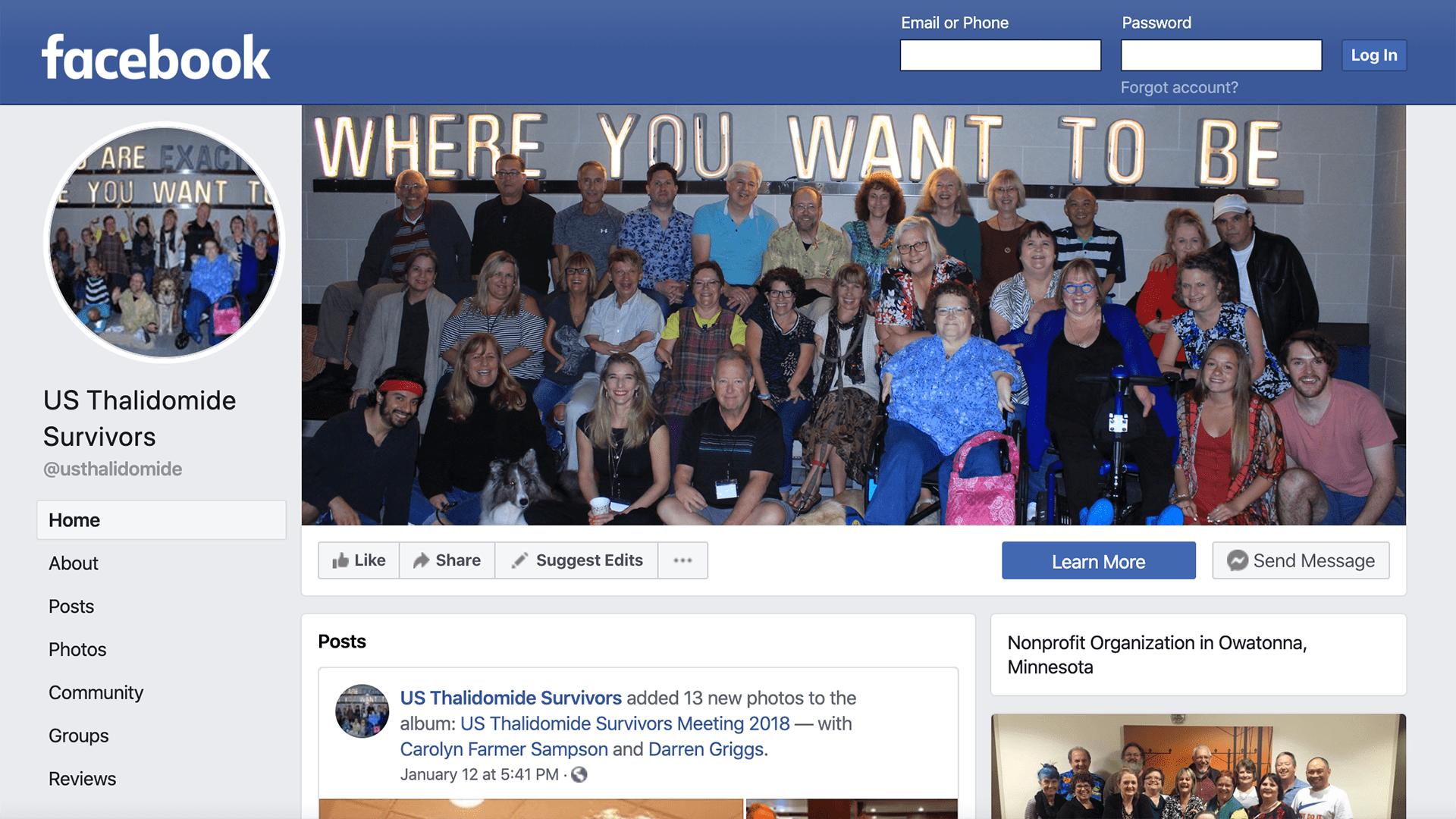 US Thalidomide Survivors Facebook Page