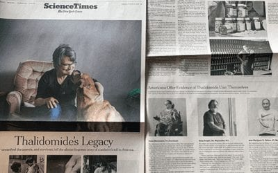 New York Times Story Features US Thalidomide Survivors